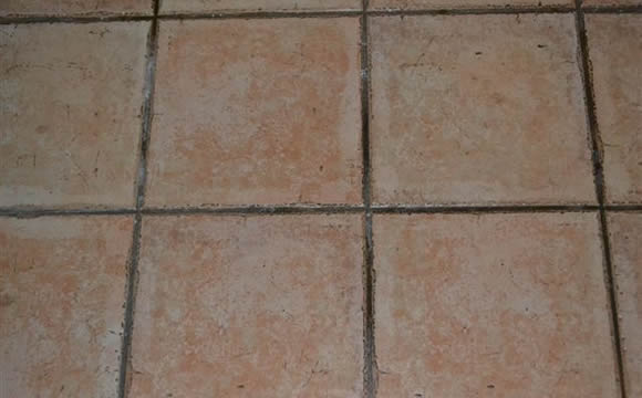 Before, some tile & grout ready for a deep clean.